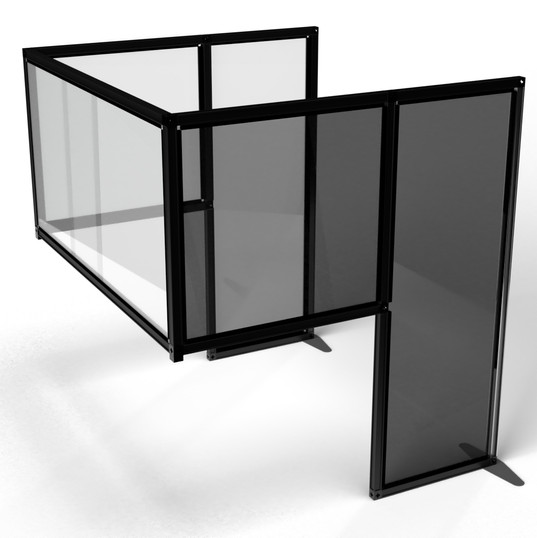 Desk Divider: Customised Black