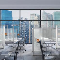 Desk Dividers: Open Layout