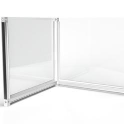 Desk Divider: L-shaped