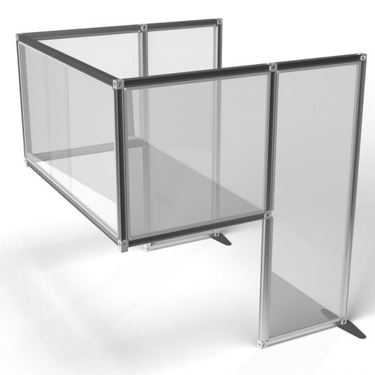 Desk Divider: Free Standing - Clear