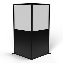 """Modular Wall """"L-Shaped, Black"""""""