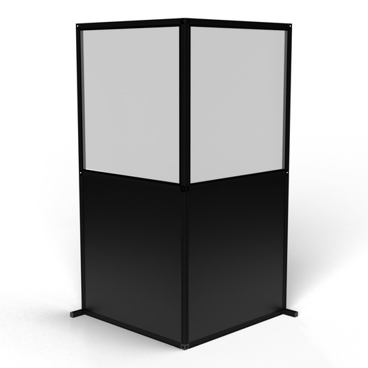 "Modular Wall ""L-Shaped, Black"""