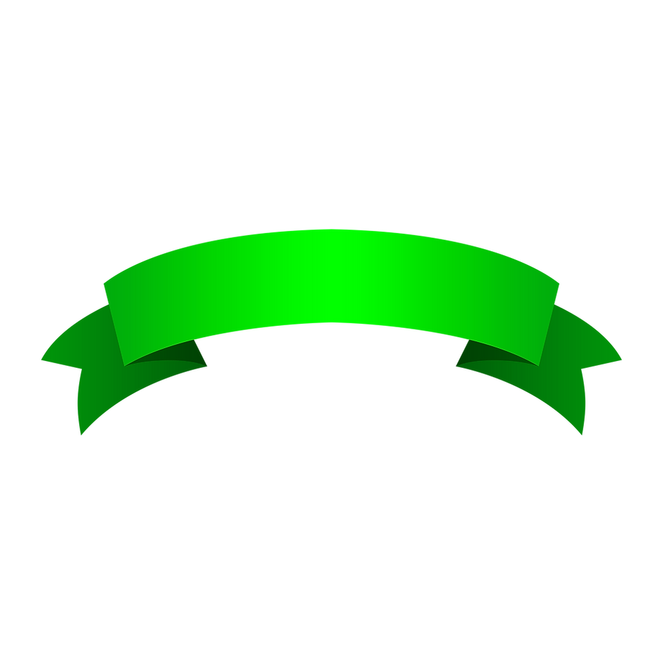 —Pngtree—green ribbon 2_4088035.png