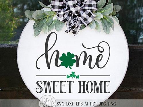 Home Sweet Home St.Patty's Door hanger