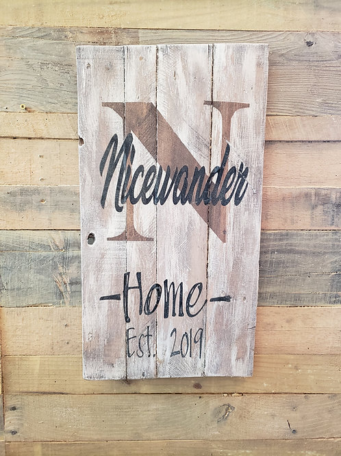 Rustic Pallet Name Sign
