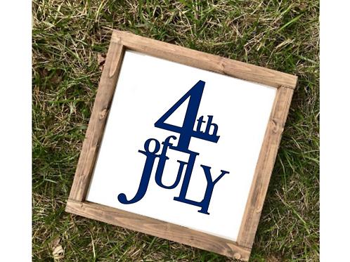 4th of July Decor- med sign