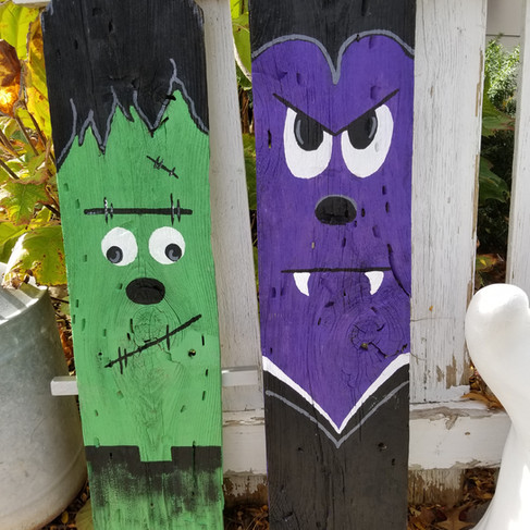 Monster porch decor