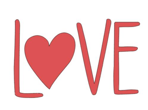 LOVE mini sign