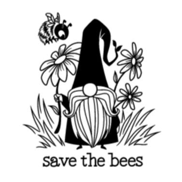 Save the Bees GNOME sign- Lg Sign