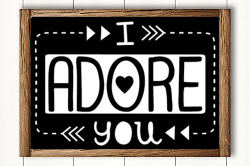 I adore you- med sign