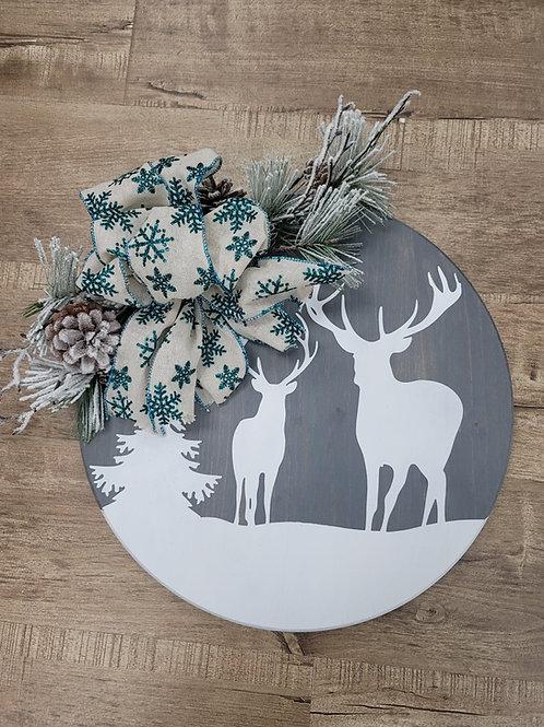 Deer-scape Door Hanger