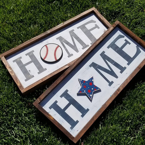 Home Signs with inserts