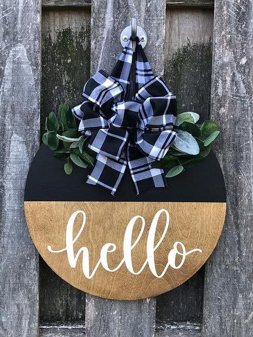 Fall hello door hanger