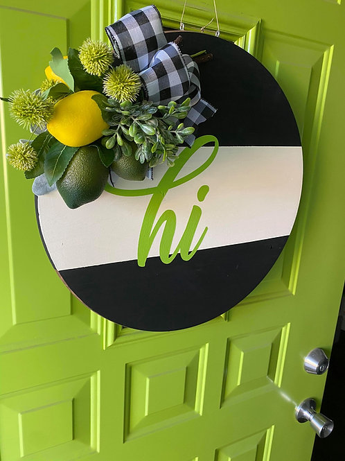 """Hi"" Door Hanger Design"