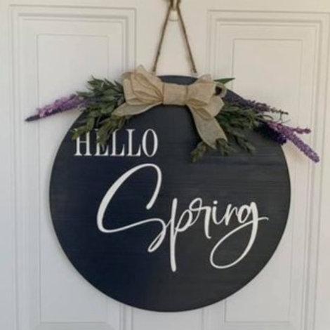 Hello Spring Door Hanger