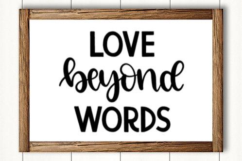 Love Beyond Words- med sign