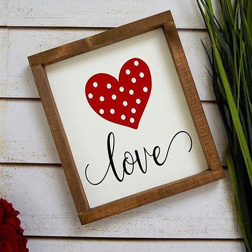 LOVE heart with frame!