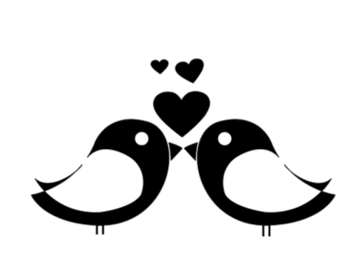 Love Birds Mini Sign