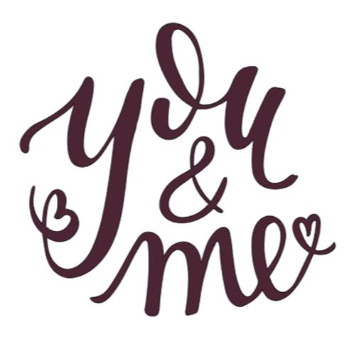 You and Me...mini sign