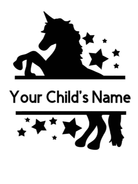 Personalized Unicorn Sign