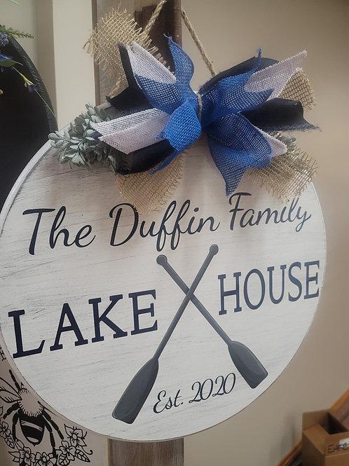 Lake House (personalized) Door Hanger