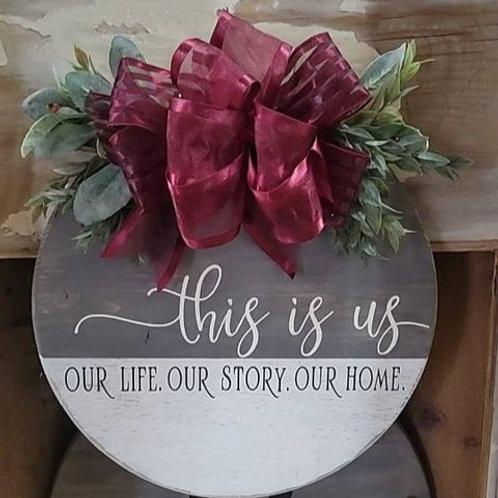 """""""This Is Us""""  doorhanger"""
