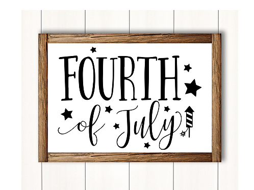 Fourth Of July-  Lg Sign