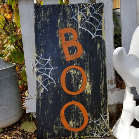 Boo Porch sign