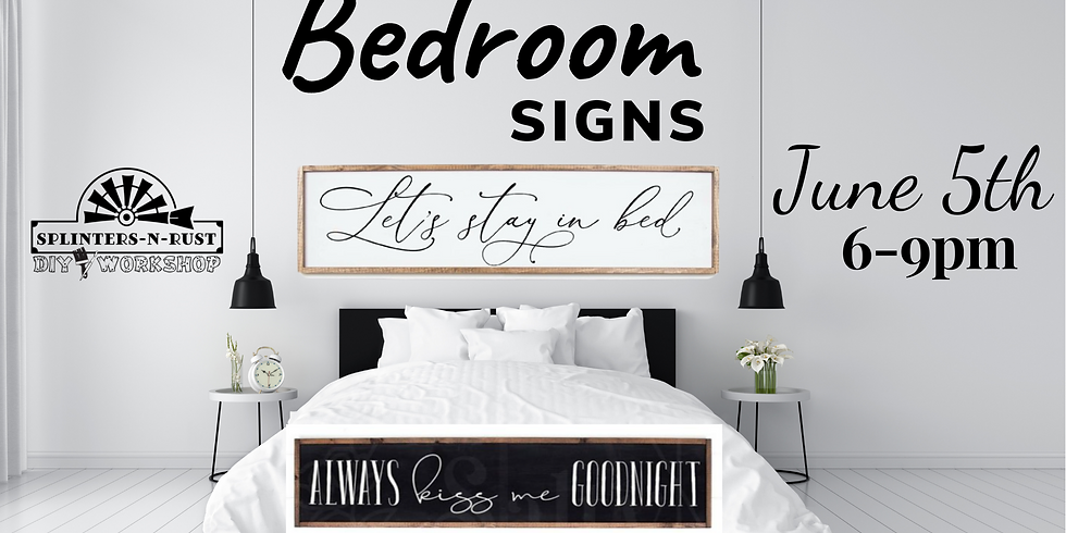 Bedroom Signs