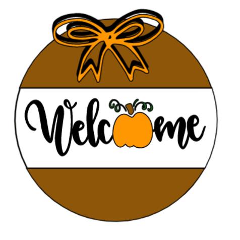 Welcome Pumpkin Door Hanger