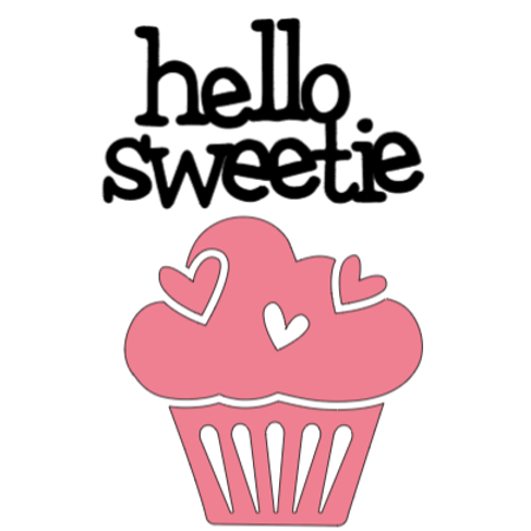 Hello Sweetie Cupcake Mini sign