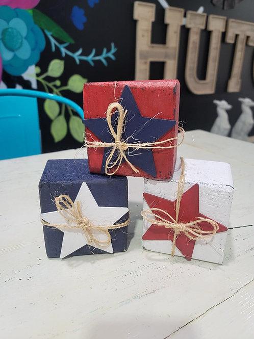 Fourth of July Block stars