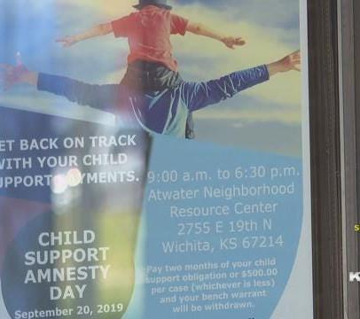 Child support amnesty day in Wichita.