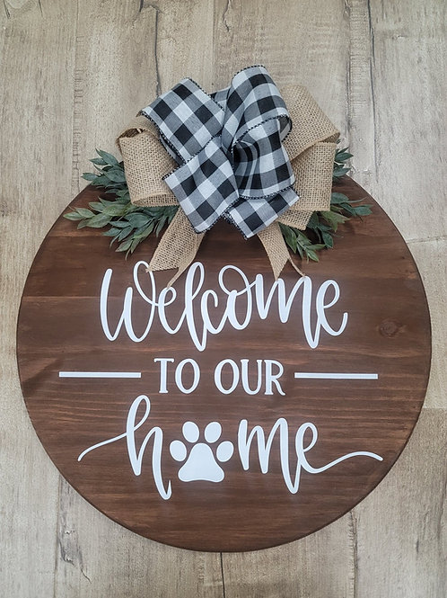 Welcome to our Home (pet version)