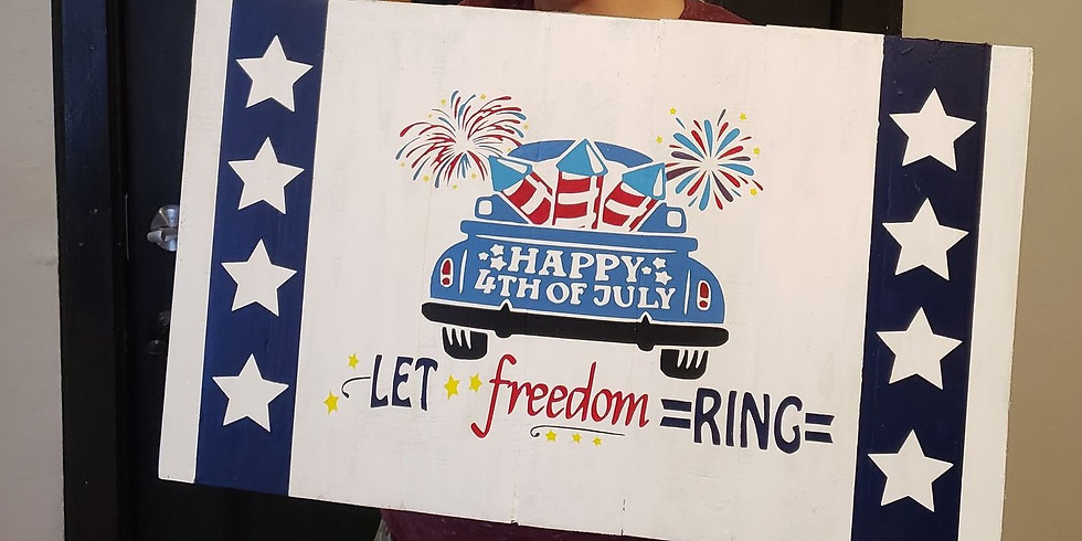Fourth Of July Truck Sign/Tray