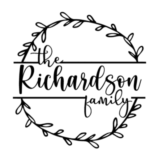 Personalized Family Sign- med sign