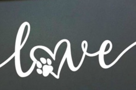Pet Love sign