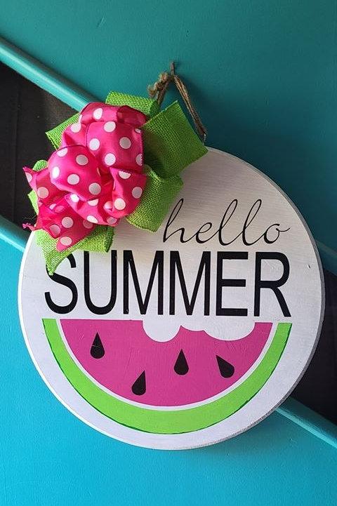 Hello Summer Door Hanger  (15 inches)