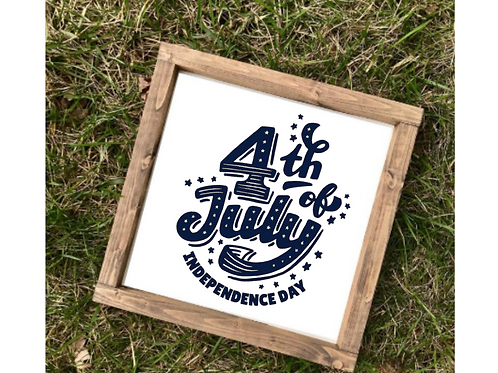 Fourth of July Decor- med sign