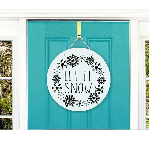 Let it Snow door hanger design
