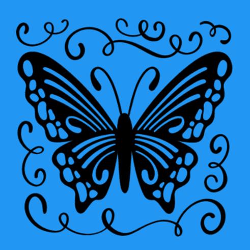 Butterfly- Medium sign