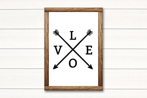 Love Arrows- Lg Sign