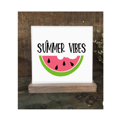 Summer Vibes Watermelon- Med Sign