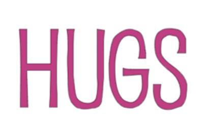 HUGS mini sign
