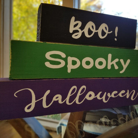 Halloween block decor