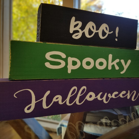 Halloween block decor