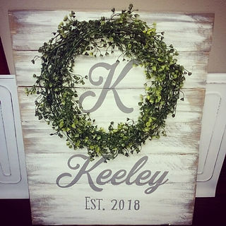 family name custom sign