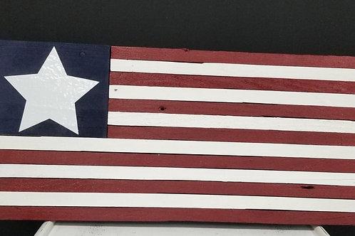 Recycled wood plank mini American Flag