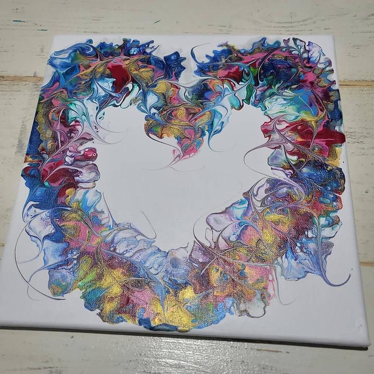 Acrylic Pour Hearts!