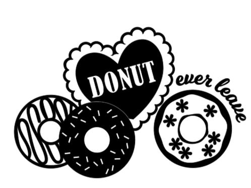 Donut Ever Leave Medium Sign